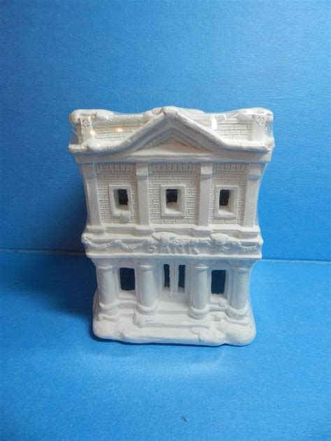 Ceramic House by New California Creations Bank House Se176 Unpainted