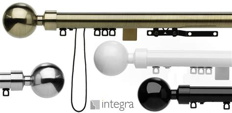integra 28mm glyda corded metal curtain poles just sew