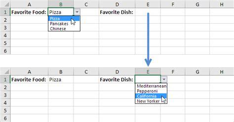dependent drop  lists  excel easy excel tutorial
