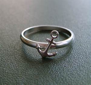 anchor midi ring gold anchor knuckle ring nautical With anchor wedding rings