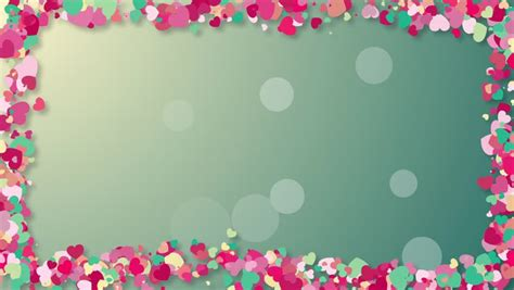 colorful background  heart confetti stock footage