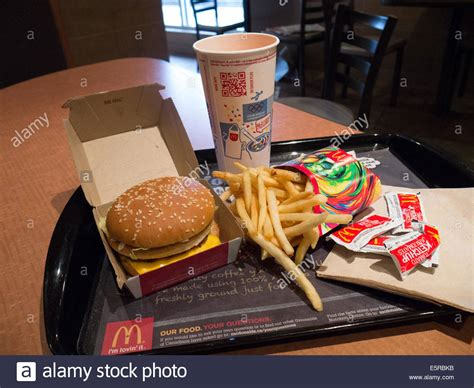 fast cuisine big mac macdonald fast food big mac meal combo stock photo royalty free image 72428815 alamy