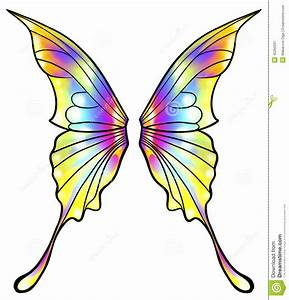 Colorful clipart butterfly wing - Pencil and in color ...