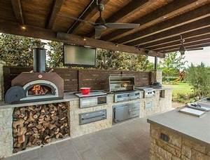 Cucine da esterno in muratura Cucina esterna con forno a
