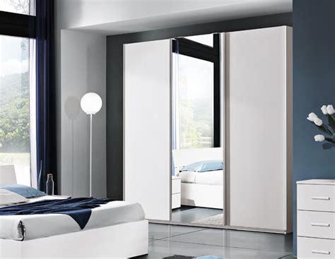 guardaroba ante scorrevoli specchio armadio a 3 ante scorrevoli bianco frassinato con specchio
