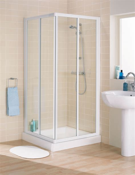 versatile furniture for small spaces lakes framed corner entry shower enclosure 800mm white