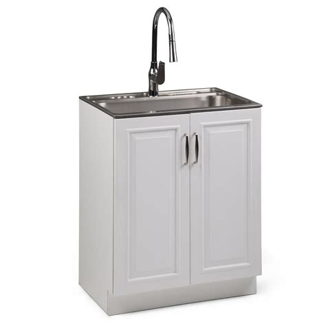 Utility Sink In Cabinet by Simpli Home Darwin 28 In W X 19 In D In X 35 In H