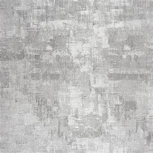 Uni Wallpaper - Silver/Grey (26379137) - Casadeco Majestic