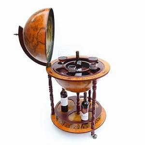 WestWood Globe Shaped Mini Bar Drinks Cabinet Retro Style ...