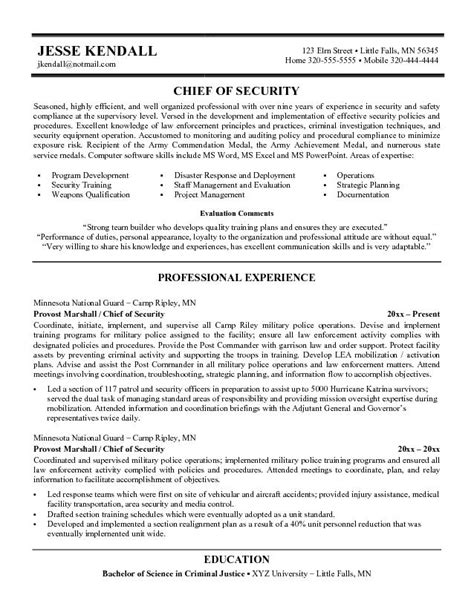 Security Officer Resume Objective Sample