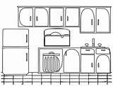 Armoire Cuisine Coloriage Template sketch template