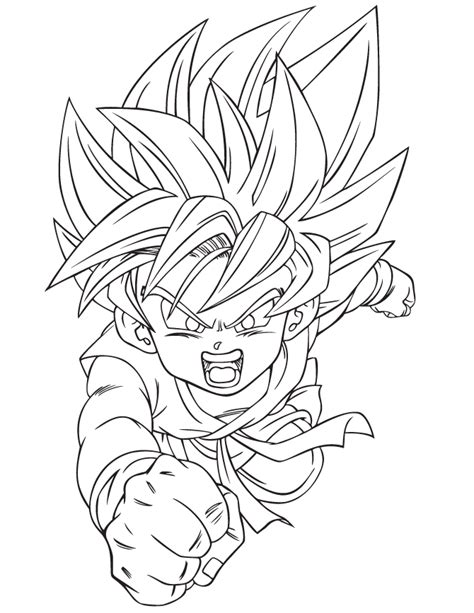 dragon ball  goku ssj coloring page   coloring pages