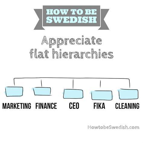 flat hierarchies work  sweden hej sweden