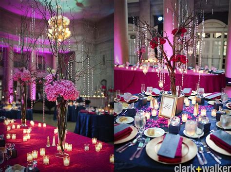 fuschia wedding decorations fuschia  navy wedding