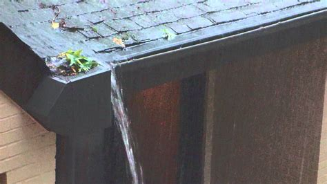 Water Overflowing Gutter Box Youtube
