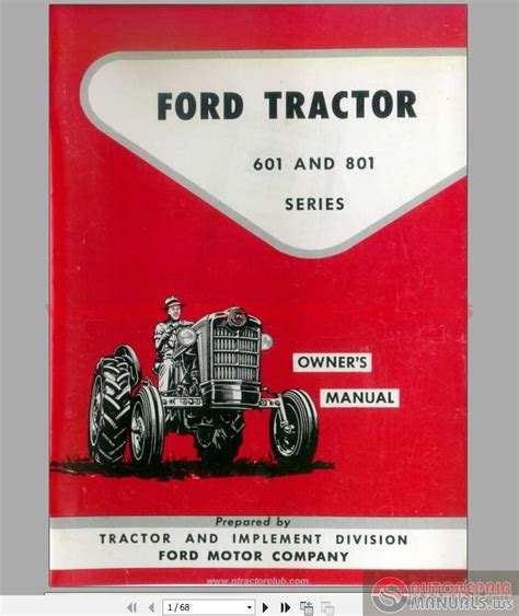ford   series tractors owners manual