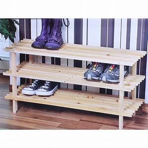 Regal Für Schuhe : kesper holz schuhregal 3 ebenen f r ca 9 paar schuhe schuhschrank regal ebay ~ Sanjose-hotels-ca.com Haus und Dekorationen