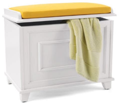 springfield storage bench with cushion traditional