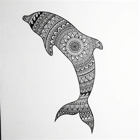 zentangle dolphin zentangle dolphin black white
