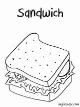 Coloring Sandwich Menu Lunch Pages Colouring Template Colorings Printable Getdrawings Getcolorings Sketch Pa sketch template