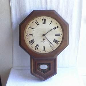 VINTAGE SETH THOMAS WALL CLOCK GOLDENRULE E477 005 PARTS
