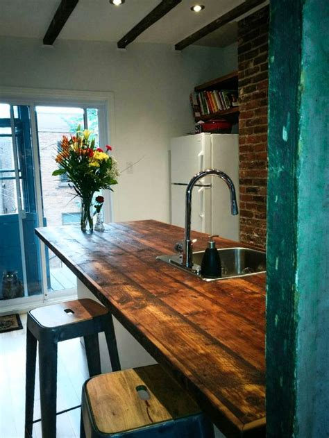 cuisine comptoir bois comptoir en bois de grange bois de grange
