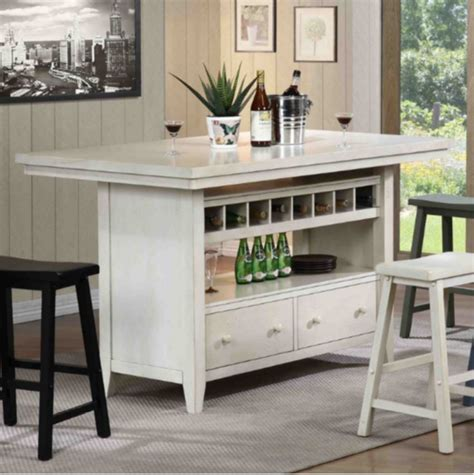 kitchen island table with 4 chairs top 7 white kitchen islands furniture 9418