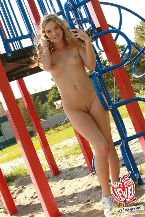Teen Web Model Caught Naked On Jungle Gym Pichunter
