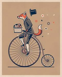 Penny Farthing Art Print — DKNG
