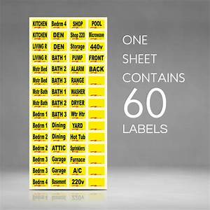 circuit breaker labels for home and shop electrical box With circuit box labels