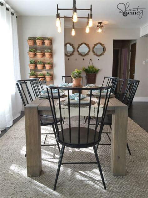 modern farmhouse kitchen tables diy modern farmhouse table as seen on hgtv open concept