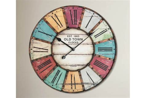 Oversized 60cm Vintage Wall Clock