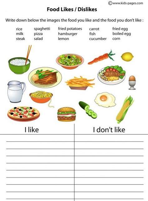 Food  Vegetable  Fruit Likedon't Like Easy Worksheets & Flashcards  Story Elements
