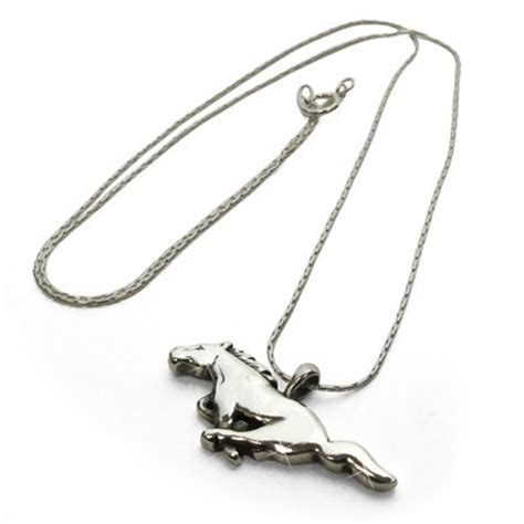 ford mustang necklace ford mustang 16 quot sterling silver necklace