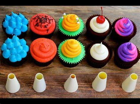 pered chef easy accent decorator cupcakes five cupcake frosting styles using a piping tip 5