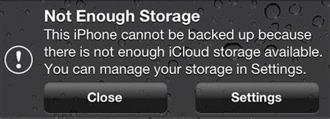 iphone says not enough storage getting the error message quot not enough icloud storage quot on