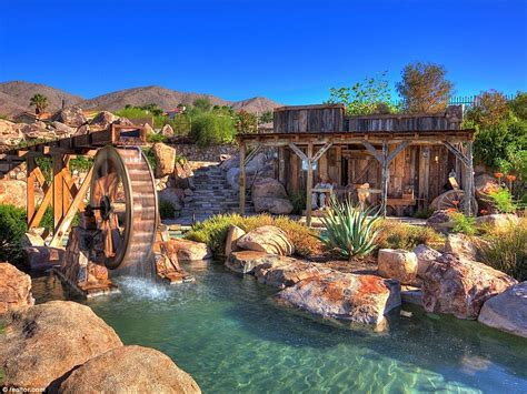 Backyard Water Park - nevada mansion with its own backyard water park makes a