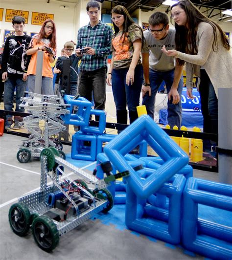 students face   volvo robotics competition