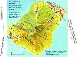 Topographic Map Of The Stromboli Volcano  After