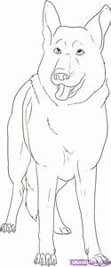 How To Draw A German Shepherd Step By Step Pets Animals