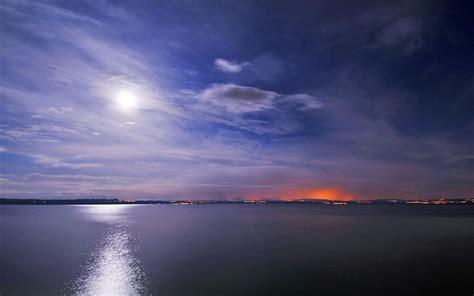 Lake At Night Wallpaper 14073