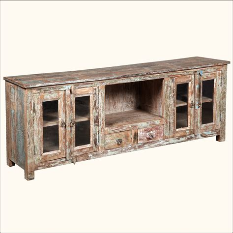 rustic tv console table rustic tv stand media console reclaimed wood distressed