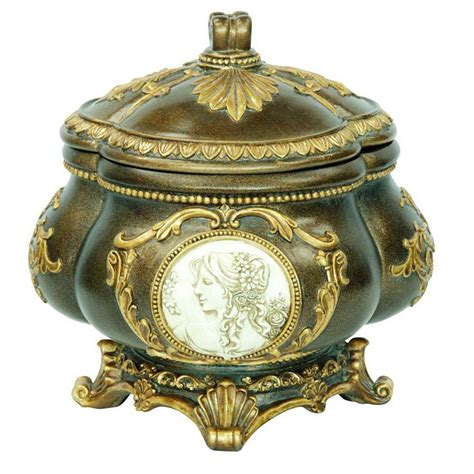6430 gold decorative box ore international 9 in h handcrafted decorative jewelry