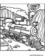 Train Coloring Pages Steam Locomotive Trains Printable Colouring Engine Drawing Construction Boy Tracks Clipart Printactivities Quilts Print Colour Rollers Bulldozers sketch template