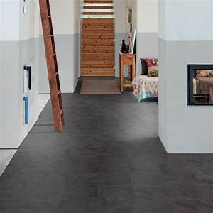 polyflor camaro loc click fit vinyl tiles black shadow With loc floor parquet