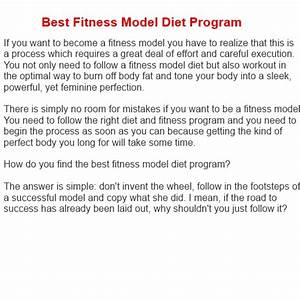 Fitness Model Diet  U2013 Best Fitness Model Diet Program