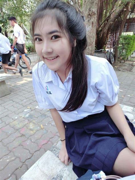 Thailand Student Uniform Cute Girl Ig Chnutsuda Nickname Kanun Thai Cute Girls