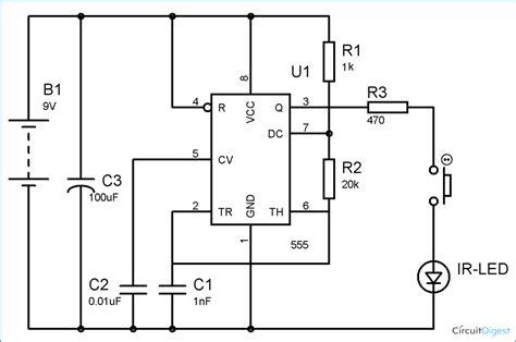 ir transmitter  receiver circuit diagram