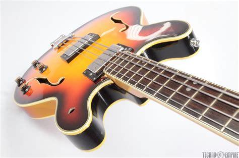 Aria Semihollow Body Electric Bass Guitar W Hard Case
