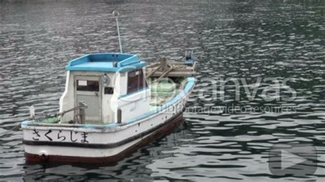 Small Boat Japan by Small Japanese Fishing Boat Stock Footage Hd